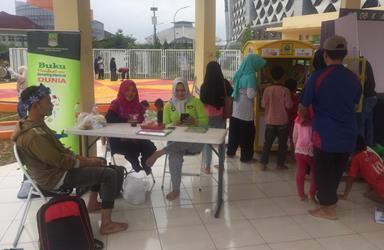 Perpustakaan Mini di Taman Sehati Cikarang Siap Layani Masyarakat